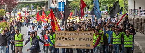 Demonstration in Istanbul am 1.